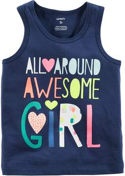 Carter's Toddler Girl All-Around Awesome Girl Tank Top