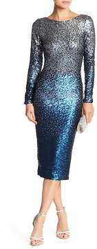 Dress the Population Emery Two-Tone Sequin Dress
