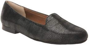 Ros Hommerson Black Lizard Omara Leather Loafer - Women