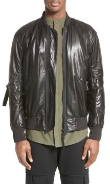 Helmut Lang Men's Leather Bomber Jacket
