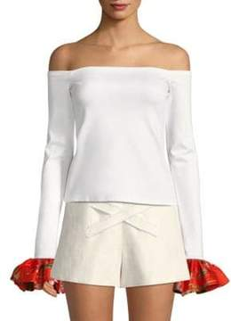 Alexis Kirin Off-The-Shoulder Bell-Sleeve Top