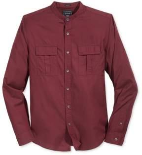 GUESS Mens Nelson Fine Button Up Shirt Red 2XL