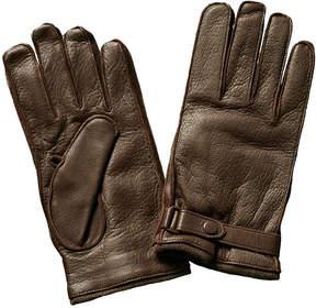 Portolano Men's Brown Leather & Cashmere-Blend Gloves