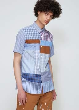 Junya Watanabe Cotton Check X Multi Fabric Mix Shirt