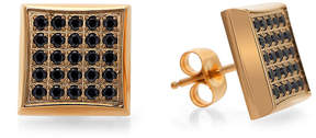 Black Diamond FINE JEWELRY Mens 1/4 CT. T.W. Color-Enhanced Square Stud Earrings
