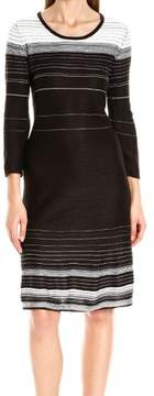 Nine West Womens Long Sleeves Pullover Sweaterdress