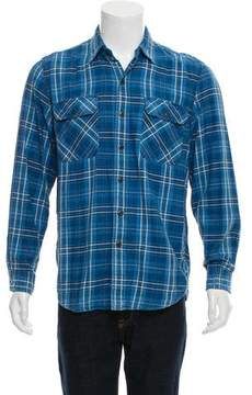 Co RRL & Plaid Button-Up Shirt