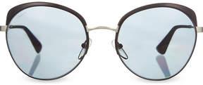Prada PR54S round-frame polarised sunglasses