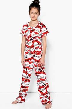 boohoo Girls Santa Tee & Bottom Nightwear Set
