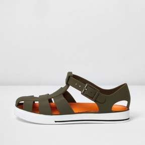 River Island Boys khaki jelly sandals