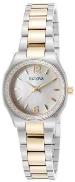 Bulova Women's Diamond Bracelet Watch - 0.23 ctw