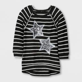 Miss Chievous Girls' 3/4 Sleeve Sweatshirt - Black/White