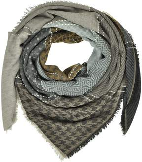Marina D'Este Printed Wool and Acrylic Shawl