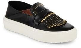 BCBGMAXAZRIA Dita Goat Leather Slip-On Sneakers