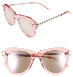Karen Walker Women's One Star 50Mm Retro Sunglasses - Crystal Pink/ Rose Gold