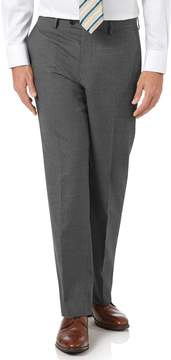 Charles Tyrwhitt Charcoal Classic Fit Panama Puppytooth Business Suit Wool Pants Size W32 L32
