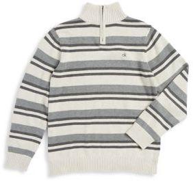 Calvin Klein Jeans Boy's Striped Cotton Sweater