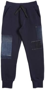 Diesel Cotton Sweatpants With Denim Patches