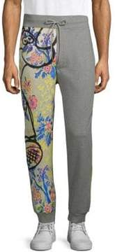 Moschino Graphic Leg Heathered Cotton Pants