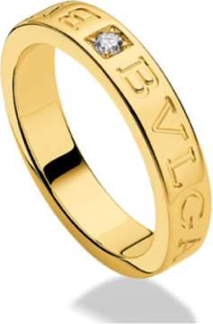 Bulgari Bvlgari 18K Yellow Gold and Diamond Band Ring AN854462