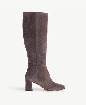 Ann Taylor Larkin Suede Heeled Boots