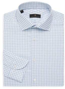 Ike Behar Regular-Fit Check Button Front Dress Shirt