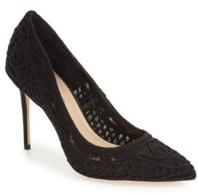 Imagine by Vince Camuto Women's 'Olivia' Macrame Pointy Toe Pump