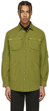 Moschino Green Military Shirt