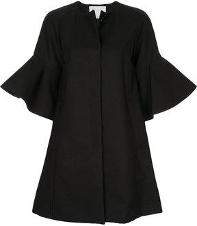 ESTNATION flared button up coat