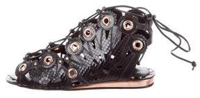 Ivy Kirzhner Snakeskin Barcelona Sandals w/ Tags