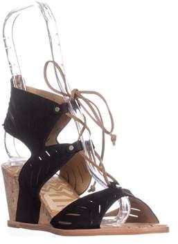 Dolce Vita Langly Wedge Sandals, Black.