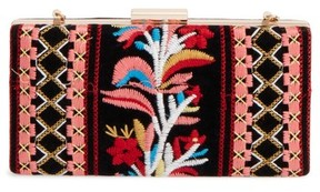 Shiraleah Verna Embroidered Minaudiere - Red