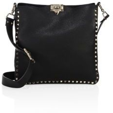 VALENTINO GARAVANI Rockstud Large Leather Hobo Bag