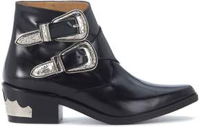 Toga Pulla Texan In Black Brushed Leather