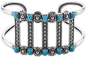American West Sterling Silver Bold Turquoise Cuff