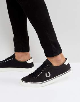 Fred Perry Underspin Canvas Sneakers in Black
