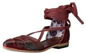 Freebird By Steven Womens Eryn Leather Closed Toe Ankle Wrap Slide Flats.