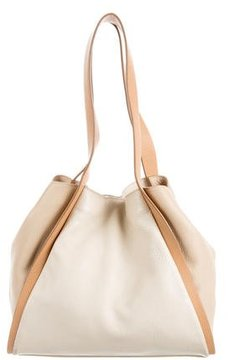 Akris Tricolor Leather Tote