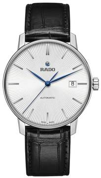 Rado Coupole Classic Automatic Leather Strap Watch, 37.7Mm