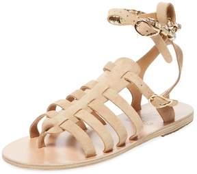 Ancient Greek Sandals Women's Sparta Woven Ankle-Wrap Sandal
