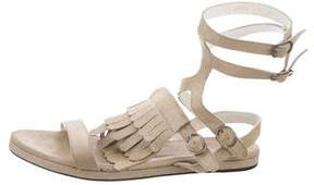 Freda Salvador Metallic Kiltie Sandals