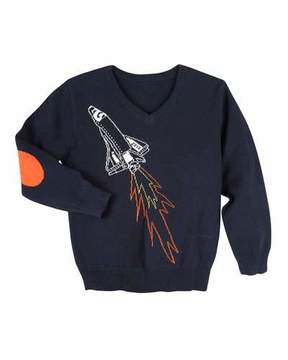 Andy & Evan Spaceship Sweater, Size 2-7