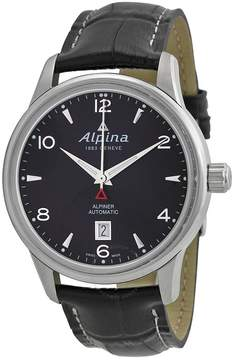 Alpina Alpiner Automatic Black Dial Black Leather Men's Watch
