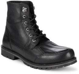 Andrew Marc Otis Lace-Up Leather High-Top Boots