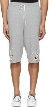 Miharayasuhiro Grey Distressed Lounge Shorts