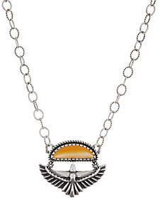 American West Eagle & Mother of Pearl SterlingNecklace
