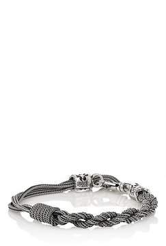 Emanuele Bicocchi Men's Sterling Silver Foxtail-Chain Bracelet