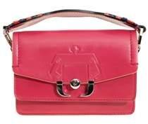 Paula Cademartori Women's Fuchsia Leather Shoulder Bag.