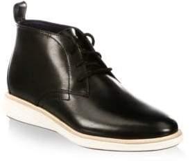 Cole Haan GrandEvolution Round Toe Leather Chukka Boots
