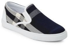 Burberry Kid's Plaid Slip-On Sneakers